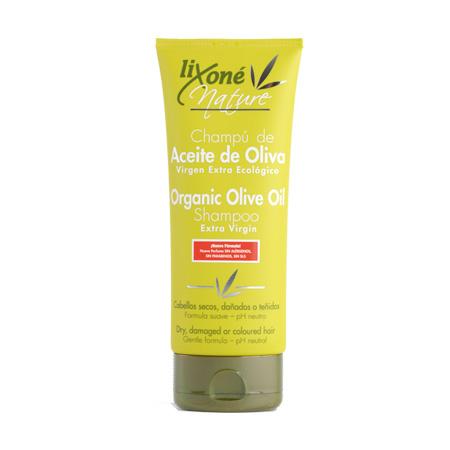 Champú de aceite de oliva virgen extra ecológico para cabellos secos, dañados o teñidos