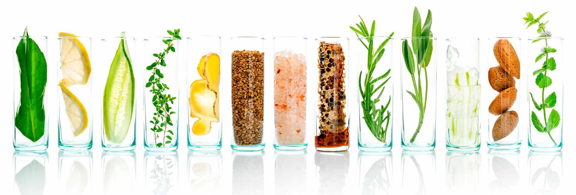 Componentes naturales para la realización de cosmeticos y productos para la higiene con marca blanca