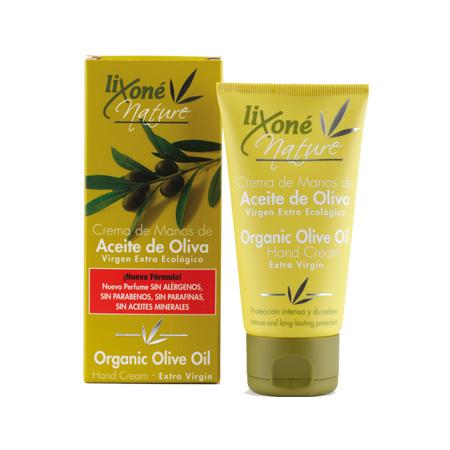 Crema de manos de aceite de oliva virgen extra ecológico