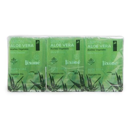 Pack de 3 jabones de Aloe Vera en pastilla de 125 ml.