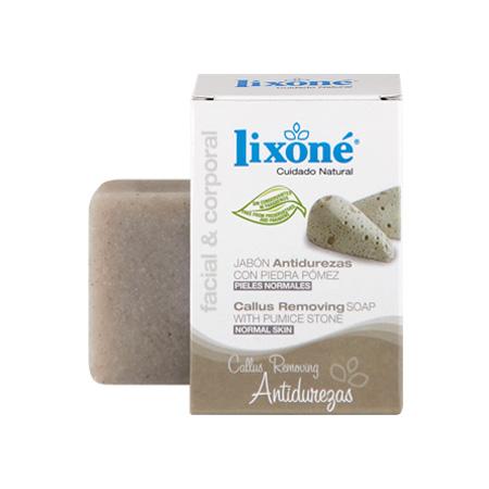 Pastilla de jabón antidurezas con piedra pómez para pieles normales de 125 gr.