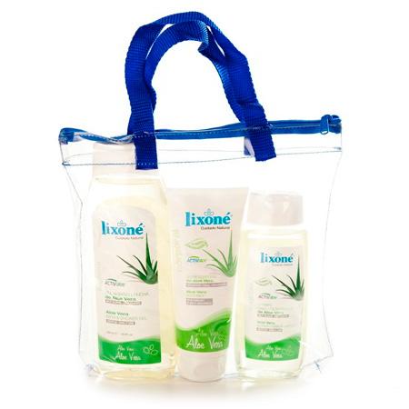 Pack Aloe Vera que contiene Gel de baño y ducha + Champú + Leche corporal + Regalo de Crema de manos