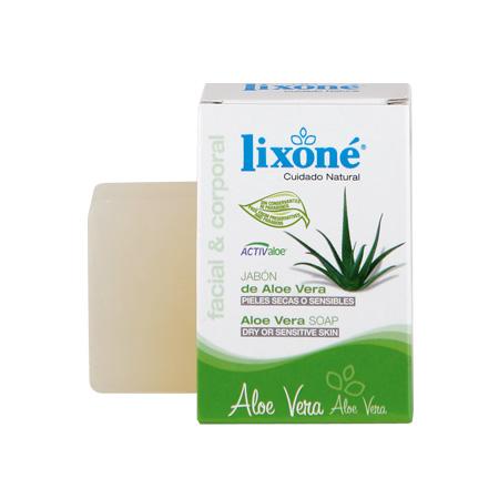 Pastilla de jabón de aloe vera para pieles secas o sensibles de 125 gr.