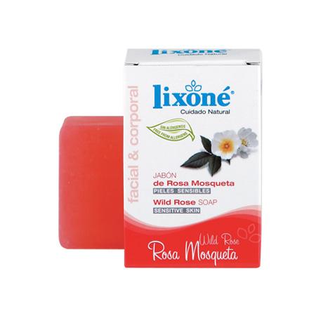 Pastilla de jabón de rosa mosqueta para pieles sensibles de 125 gr.