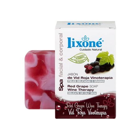 Pastilla de jabón de vid roja vinoterapia para pieles delicadas o grasas de 125 gr.